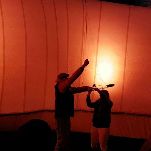 Photo: #Ballon-Start an der #Lichtwolke der #raumwelten, #Ludwigsburg. (Marie Lienhard: Of LIGHTS' – 360° VR Kamera Ballon Raumfahrt) #luburulz